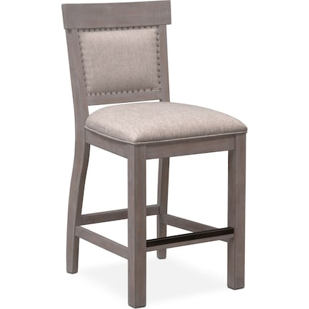 Charthouse Counter-Height Upholstered Stool - Gray