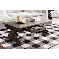 charthouse occasional dark brown coffee table