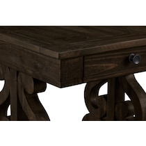 charthouse occasional dark brown end table