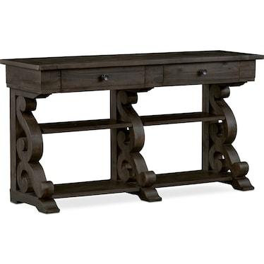 Charthouse Sofa Table - Charcoal