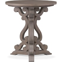 charthouse occasional gray chairside table
