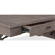charthouse occasional gray coffee table