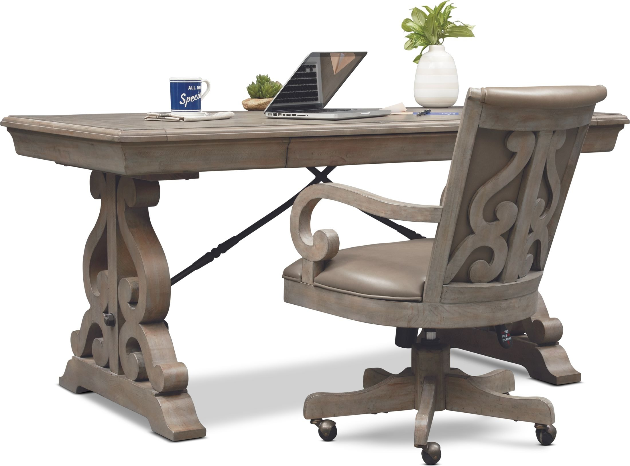 Charthouse Office Desk And Chair Set Value City Furniture