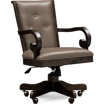 charthouse office gray desk chair