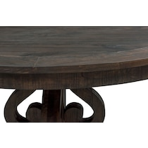 charthouse charcoal round dining table