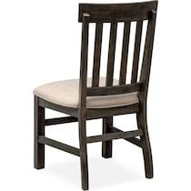 charthouse dark brown side chair