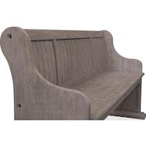 charthouse gray bench