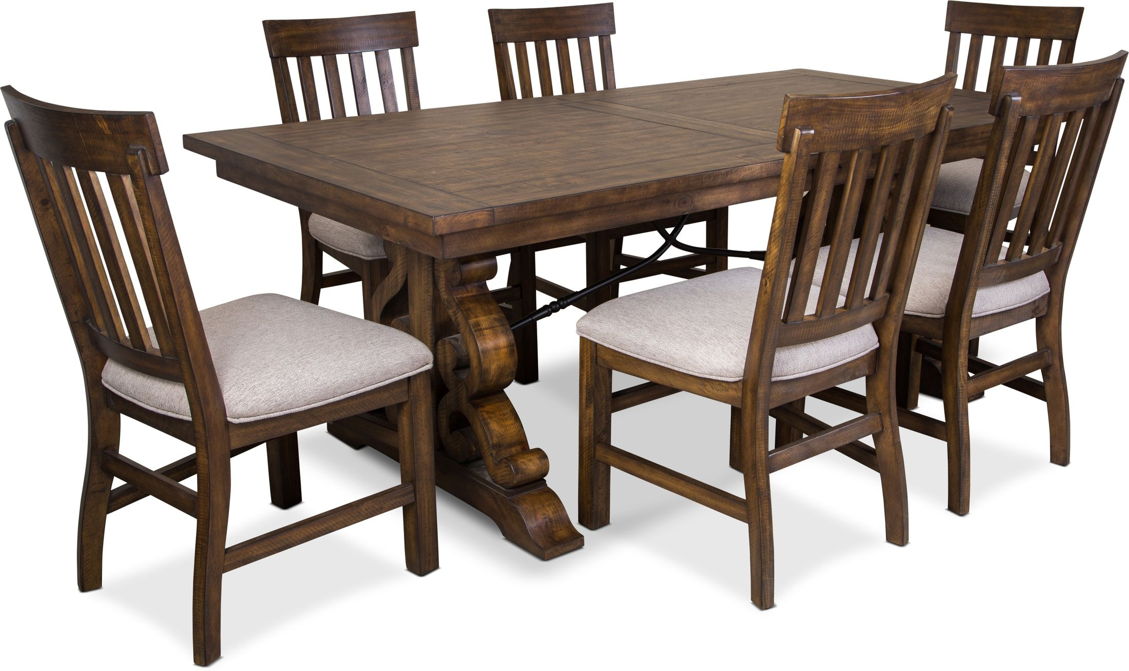 Dining Room Furniture - Charthouse Rectangular Dining Table and 6 Dining Chairs