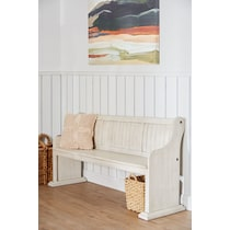 charthouse white dining bench