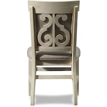 charthouse white upholstered dining chair