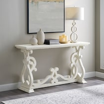 chasen white console table