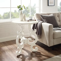 chasen white end table