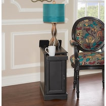 clarence black side table