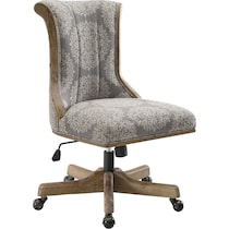 clarice gray office chair
