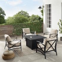 clarion outdoor living light brown outdoor chair set