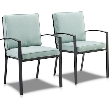Clarion Set of 2 Outdoor Dining Chairs - Mist