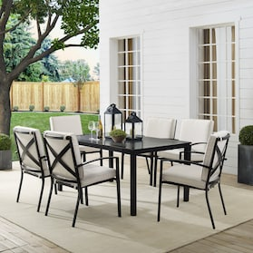Clarion Outdoor Dining Table and 6 Dining Chairs