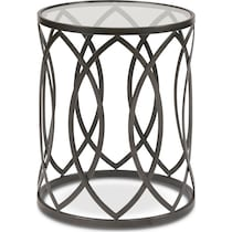 clemente black accent table