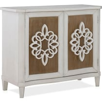 clifford white brown accent chest