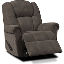 clyde dark brown manual recliner