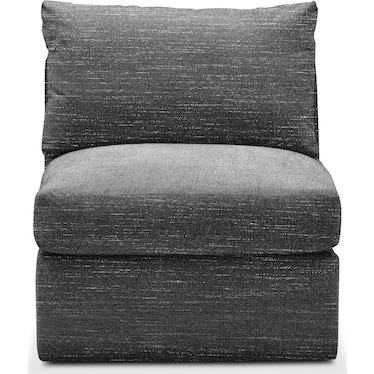 Collin Comfort Armless Chair - Charcoal