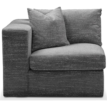 Collin Comfort Left-Facing Chair - Charcoal