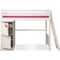 colorworks white ii white loft bed