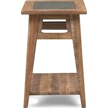 colt distressed natural chairside table