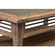 colt distressed natural coffee table