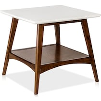 copa white pecan end table