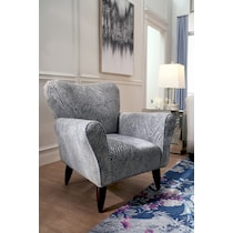 cora silver accent chair