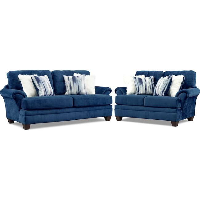 Living Room Furniture - Cordelle Sofa and Loveseat Set