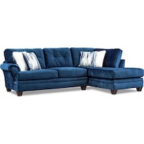 cordelle blue  pc sectional and chair