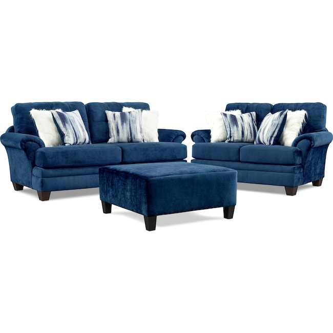 Living Room Furniture - Cordelle Sofa, Loveseat, and Ottoman
