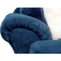 cordelle blue  pc sectional with ottoman