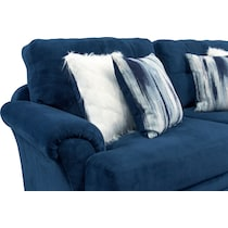cordelle blue  pc sectional