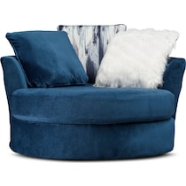 cordelle blue swivel chair