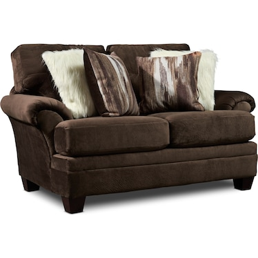 Cordelle Loveseat - Chocolate