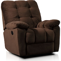 cordelle dark brown recliner
