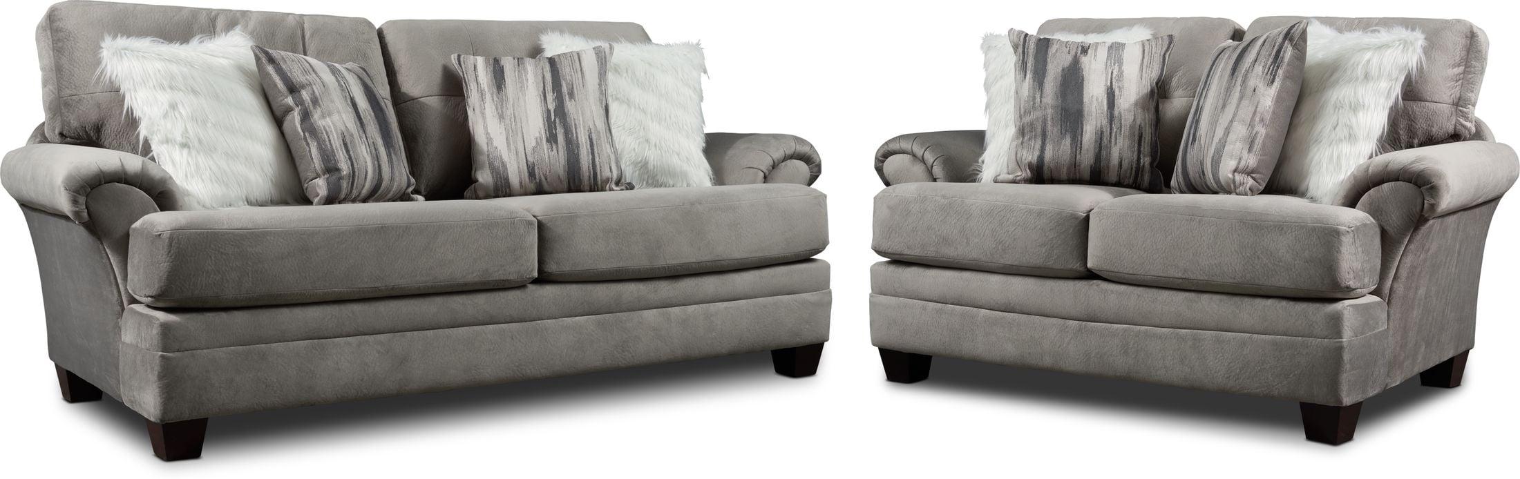 Living Room Furniture - Cordelle Sofa and Loveseat Set