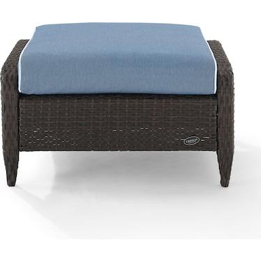 Corona Outdoor Ottoman - Blue