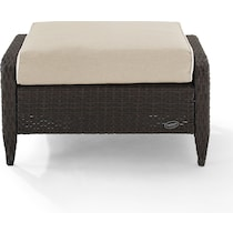 corona light brown outdoor ottoman