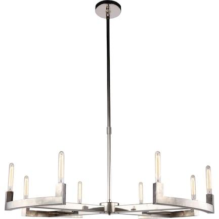 Corsica 8 Light Chandelier - Platinum