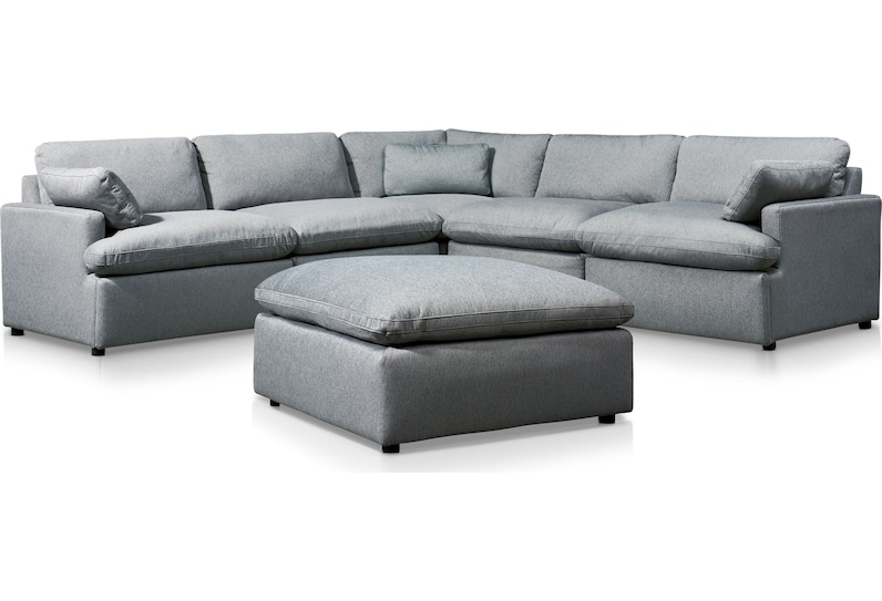 cozy gray  pc power reclining sectional