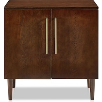 craig dark brown accent cabinet