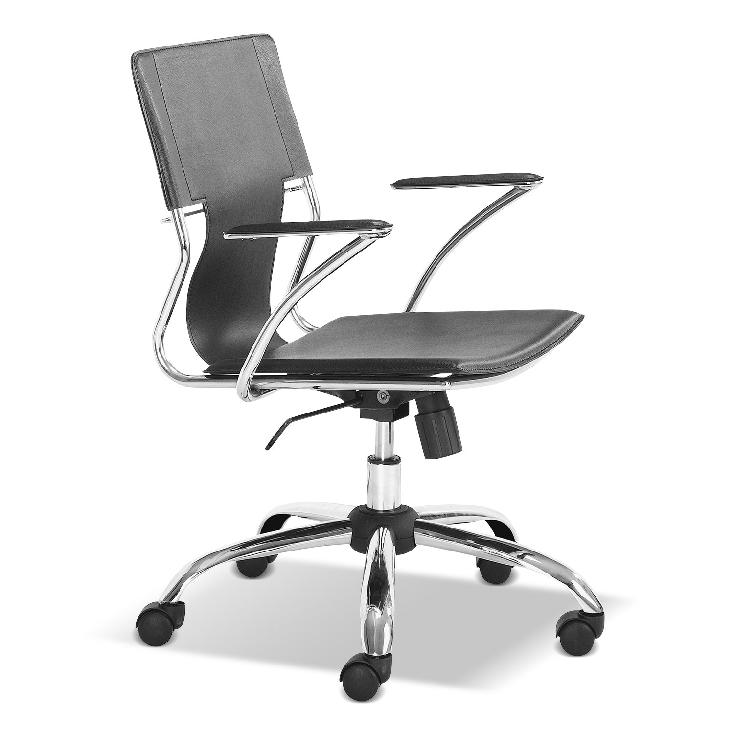 Home Office Furniture - Crowley Office Arm Chair - Black
