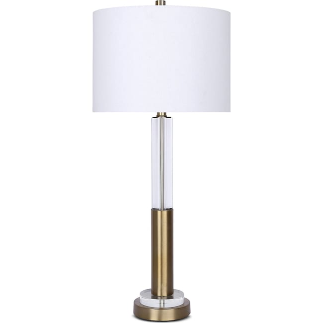 Home Accessories - Crystal & Gold Table Lamp