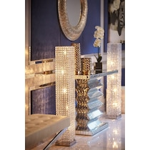 crystal tower glass floor lamp