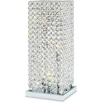 crystal tower glass table lamp