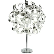 curls silver table lamp